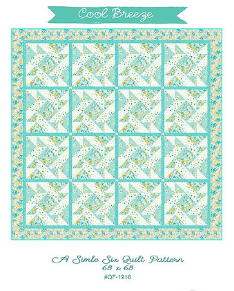 Cool Breeze Quilt Pattern featuring Flour Garden Collection by the quilt factory
