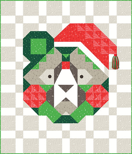 Holiday Bear Featuring Northern Light By Annie Brady For Moda Fabrics