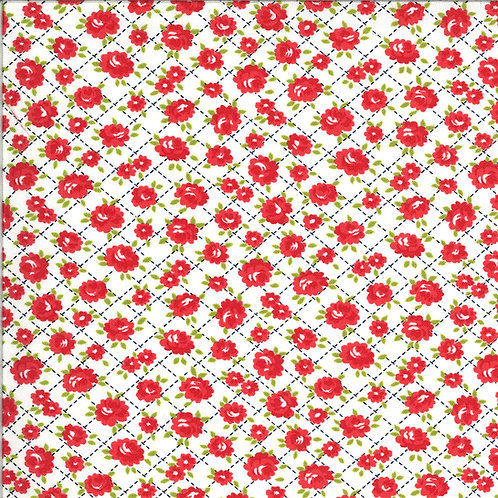 Shine On  Roses White by Bonnie and Camille for Moda Fabrics