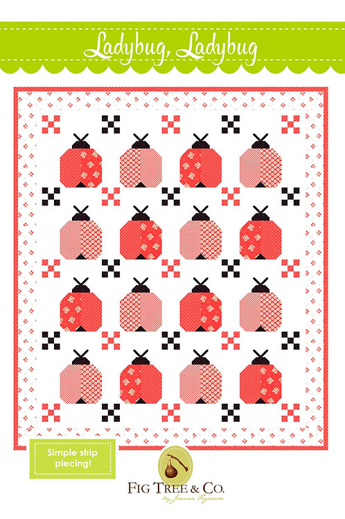 Ladybug Quilt Pattern Featuring Catalina Collection by Fig Tree Quilts