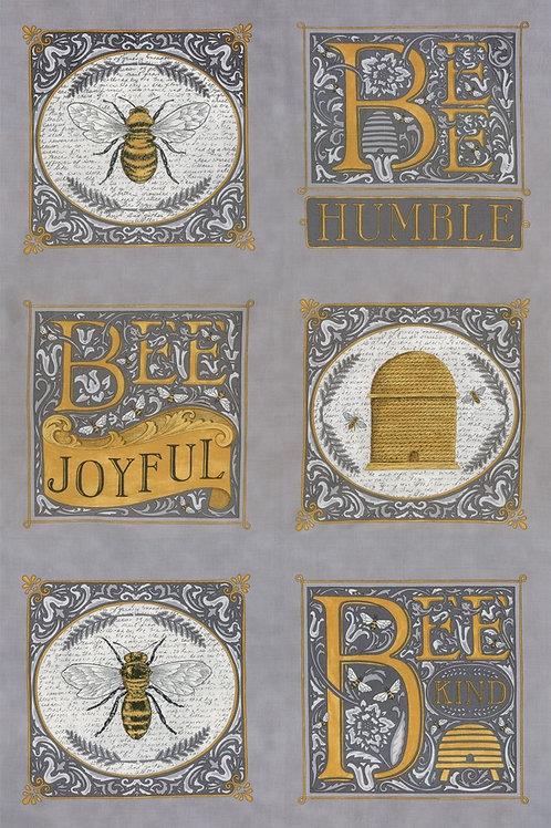 """Bee Joyful 24"""" x 44"""" Dove Grey"""