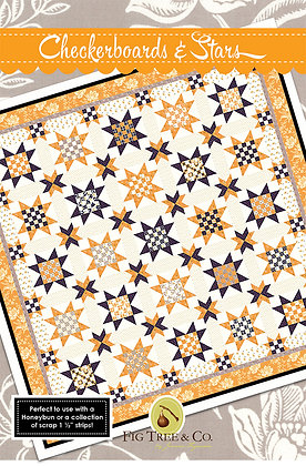 Checkerboards and Stars Quilt Pattern Fig Tree Quilts
