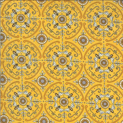 Bee Grateful | Dance Of The Honeybee Honey Yellow by Deb Strain for Moda Fabrics