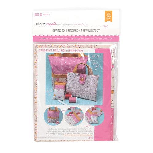 Sewing Tote, Pincushion & Caddy Cut, Sew, Create Pre-Cut Panel