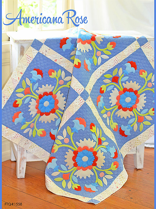 Americana Rose Quilt Patter By Fig Tree Quilts