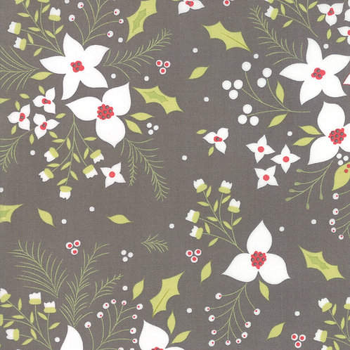Holliberry | Poinsettia Coal By Corey Yoder for Moda Fabrics
