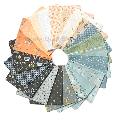 Woodland Songbirds Fat Quarter Bundle by Sheri McCulley For Poppie Cotton