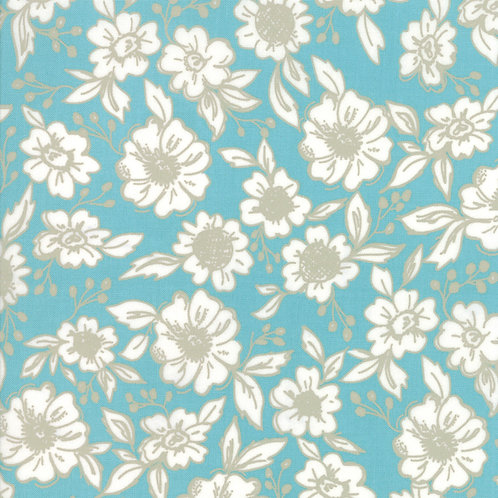Bloomington Teal Flower Shop By Lella Boutique for Moda Fabric