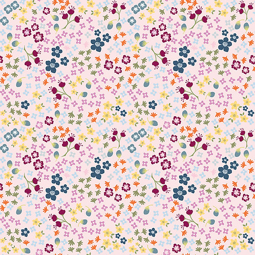 Bloom and Grow Floral Pink by Simple Simon and Company for Riley Blak
