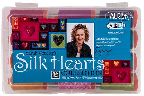 Silk Hearts Large Aurifil Thread Box by Sarah Vedeler's