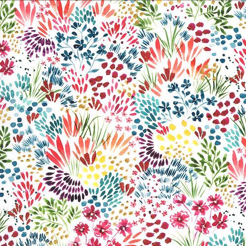 Moody Bloom Digital | Meadow White Multi By Create Joy Project For Moda Fabrics