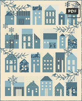 Winter Village Quilt Pattern by Laundry Basket