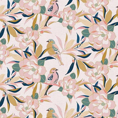 Magnolia Wonderland Magnolia Songbird Pink By Teresa Chang for Paintbrus