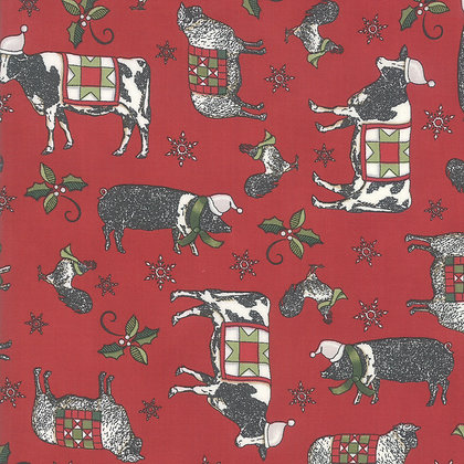 Homegrown Holiday Farmyard Holiday Red By Deb Strain for Mod