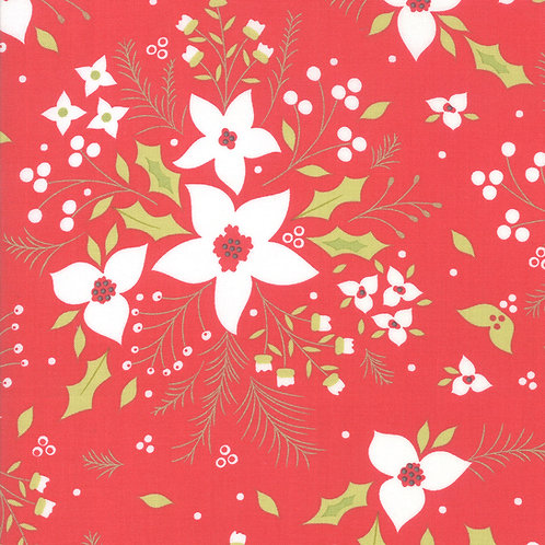 Holliberry | Poinsettia Scarlet By Corey Yoder for Moda Fabrics