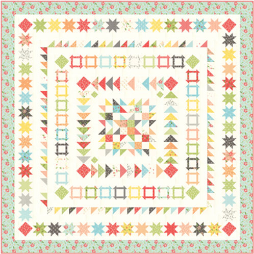 Gelato Quilt Kit Featuring Summer Sweet Collection By Sherri & Chelsi