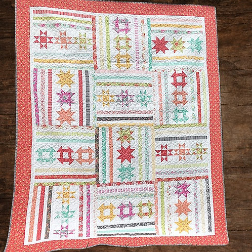 Turnstile Quilt Kit featuring Canning Day Collection by Corey Yode