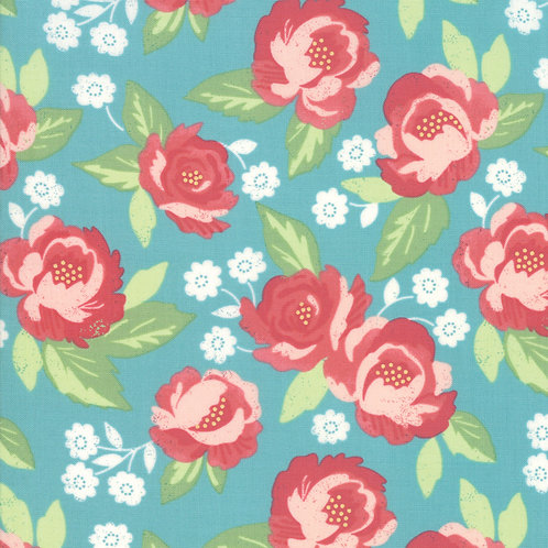 Bloomington Teal Faded Bloom By Lella Boutique for Moda Fabric