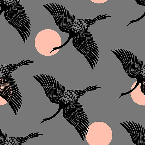 Florida | Egrets Slate Gray by Sarah Watts for Ruby Star Society from Moda