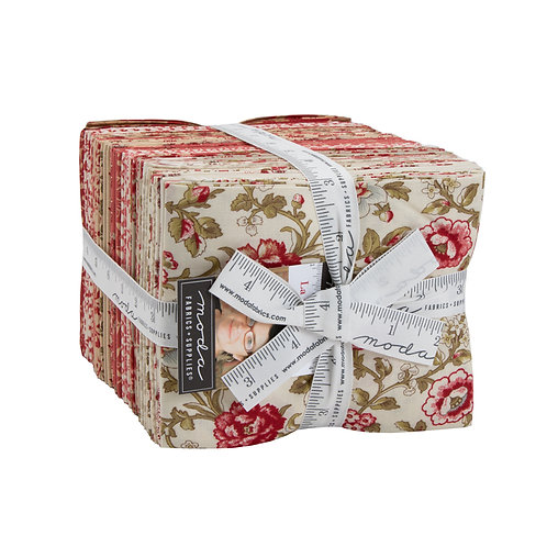 La Rose Rouge Fat Quarter Bundle by French General for  Moda Fabrics