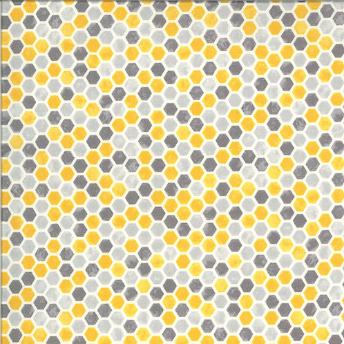Bee Grateful | Honeycomb Dove Grey by Deb Strain for Moda Fabrics