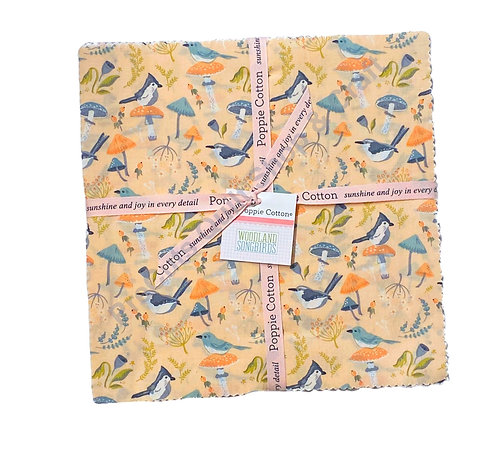 Woodland Songbirds Layer Cake by Sheri McCulley For Poppie Cotton