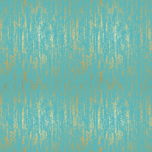 Tiger Fly Brushed Metallic Turquoise  By Sarah Watts