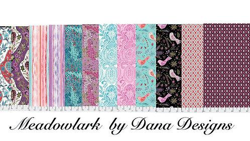 Meadowlark Half Yard  Quarter Bundle y Dana Designs