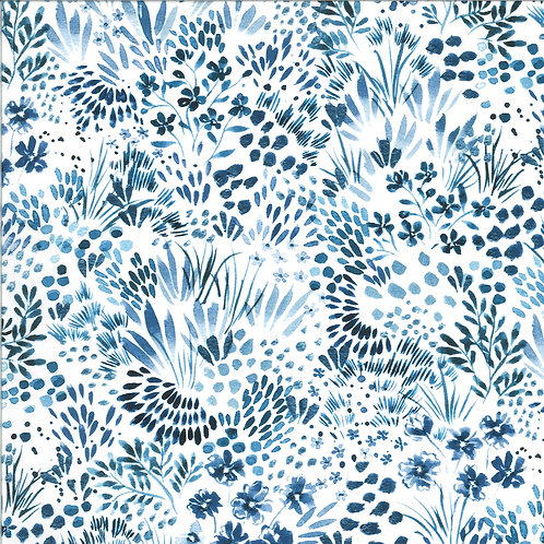Moody Bloom Digital | Meadow Indigo By Create Joy Project For Moda Fabrics