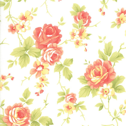 Catalina Claud Cabbage Rose Yardage By Fig Tree Quilts