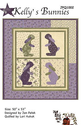 Kelly's Bunnies Quilt Pattern Featuring Clover Meadow Collection By Jan Pa