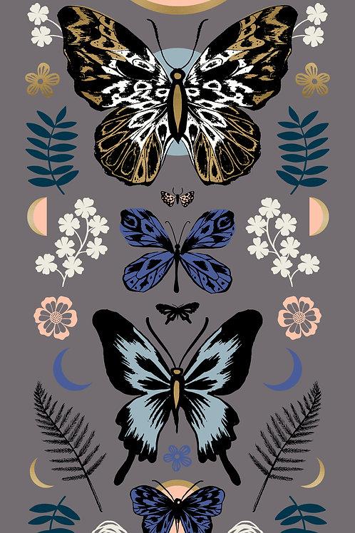 Tiger Fly Panel Met Slate Grey By Sarah Watts