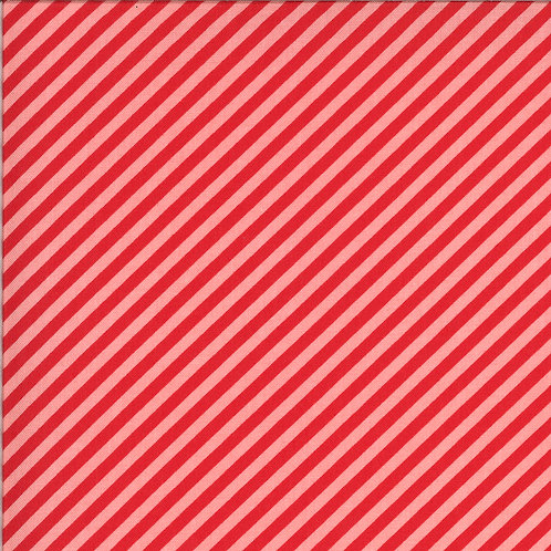Shine On  Stripe Red Pink by Bonnie and Camille for Moda Fabrics
