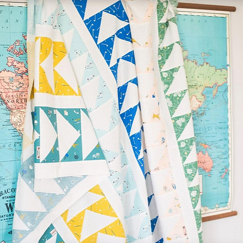 Flying Quilt Pattern by Quilty Love