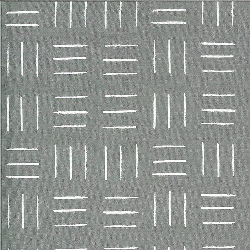 Zoology   Grey Opposing Lines by Gingiber For Moda Fabrics