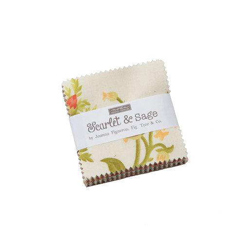 Scarlet Sage Mini Charm Pack by Fig Tree