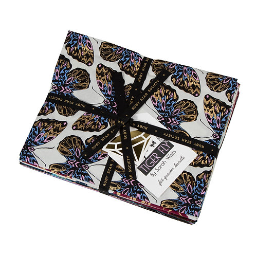 Tiger Fly Fat Quarter Bundle by Sarah Watts