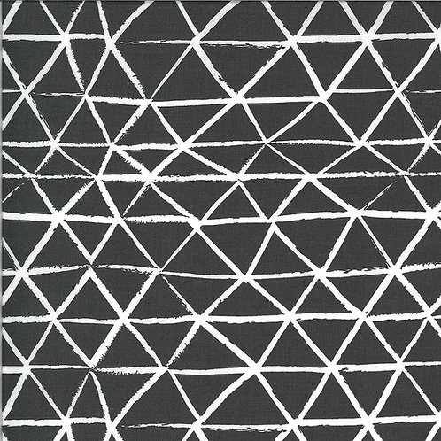 Zoology | Charcoal Rustic Triangle by Gingiber For Moda Fabrics