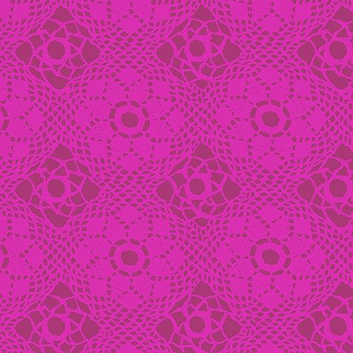 Handiwork Plum Crochet Yardage by Alison Glass for Andover Fabrics