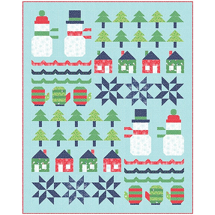 Snow Day Sampler Quilt Kit Featuring Snow Day by Stacy Iest Hsu