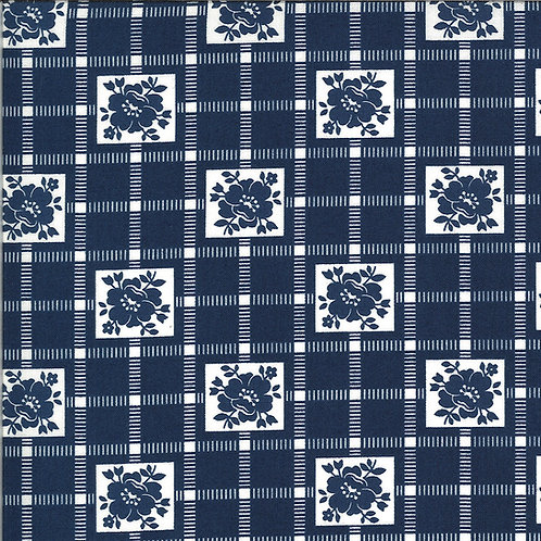 Shine On  Check Navy by Bonnie and Camille for Moda Fabrics