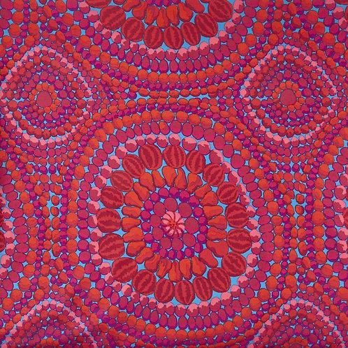 """Fruit Mandala Pink 108"""" By Kaffe Fassett for FreeSpirit Fabrics"""