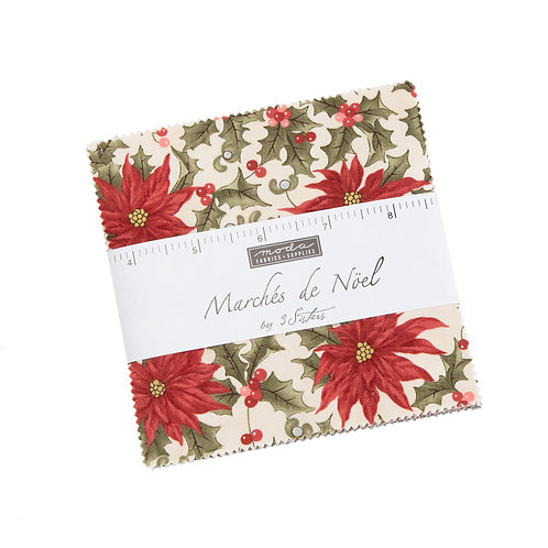 Marches de Noel Charm Pack By 3 Sister Designs for Moda Fabrics