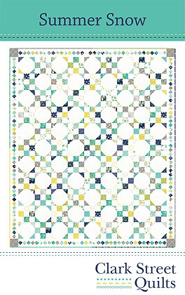 Summer Snow Quilt Pattern featuring Flour Garden Collection by Linz