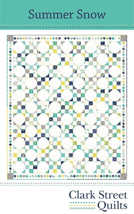 Summer Snow Quilt Pattern featuring Flour Garden Collection by Linz
