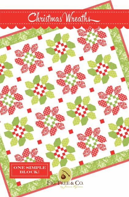 Christmas Wreath Quilt Pattern by Fig Tree Quilts
