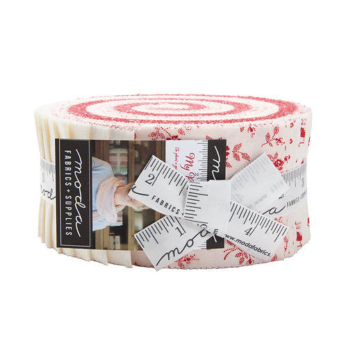 My Redwork Garden Jelly Roll by Bunny Hill Designs