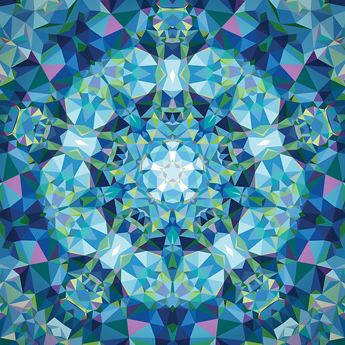 Mandala Kaleidoscope Pink Pre-Cut Quilt Panel
