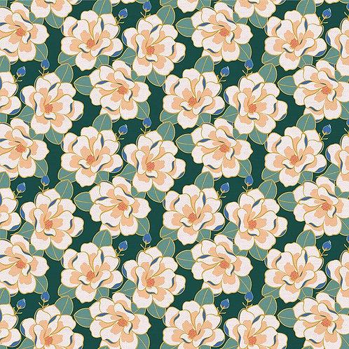 Magnolia Wonderland Magnolia Green By Teresa Chang for Paintbrush S
