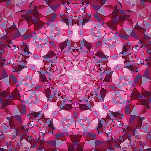 Gradient  Kaleidoscope Pink Pre-Cut Quilt Panel